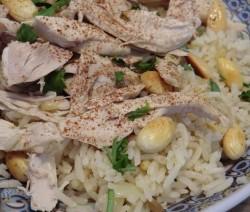 Kip met rijst uit Libanon