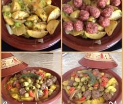 Tajine met aardappels en prei
